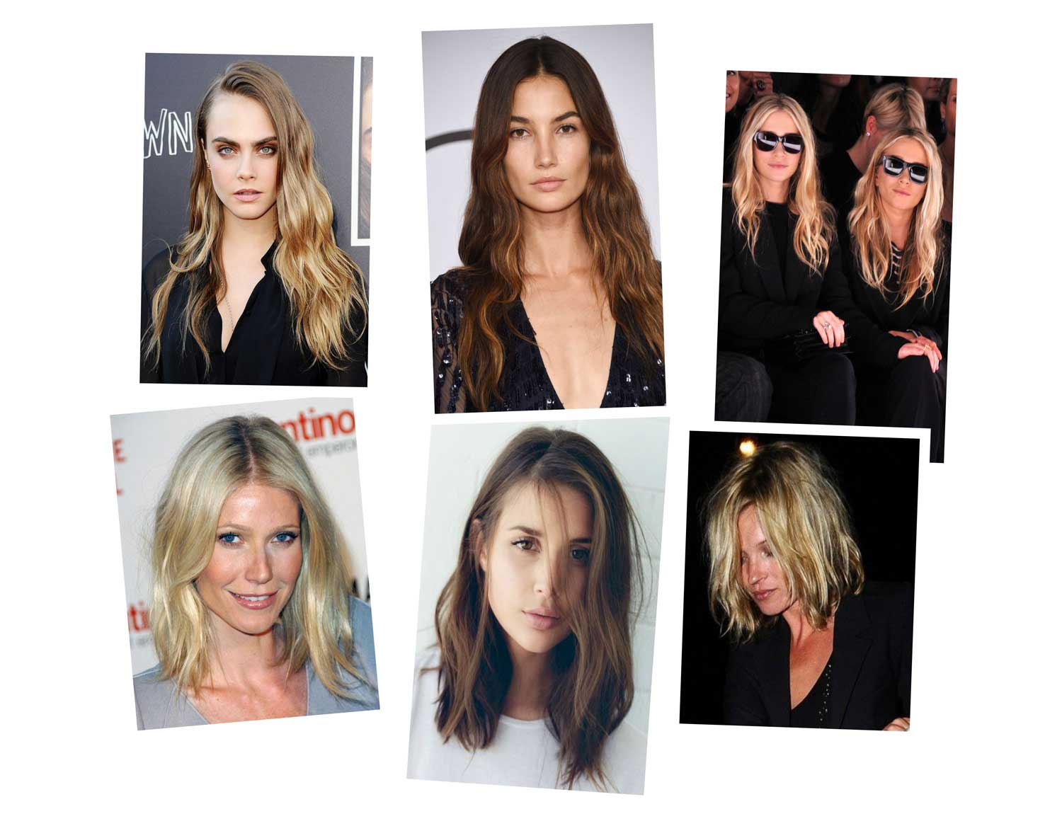 Air-dry-hair-collage- Hairstyling